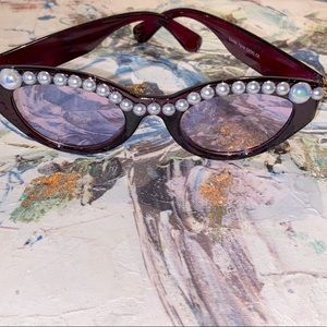 Shade Shak's Pearl Studded Unique Sunglasses